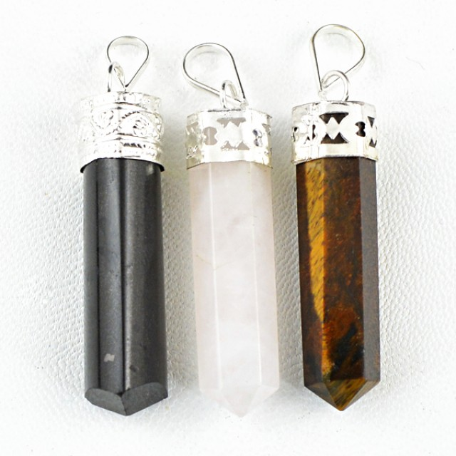 Natural 14.00 Gms Healing Point Pendant Lot