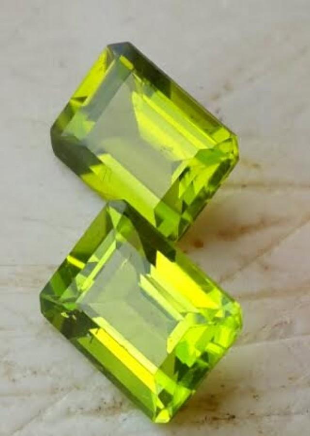 SEEMLY SET! 5.10 cts High Best Natural Apple Green Pakistan Peridot-