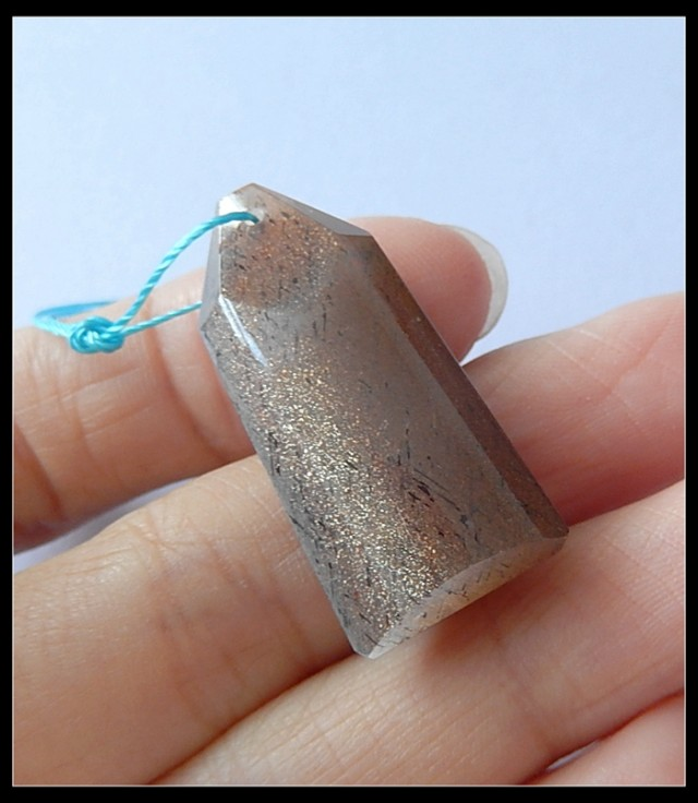 30Ct Sunstone Gemstone Pendant Bead