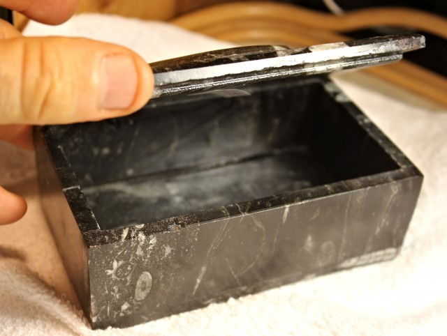 680 Grams Orthocerase Fossil Jewelry Box Beautiful
