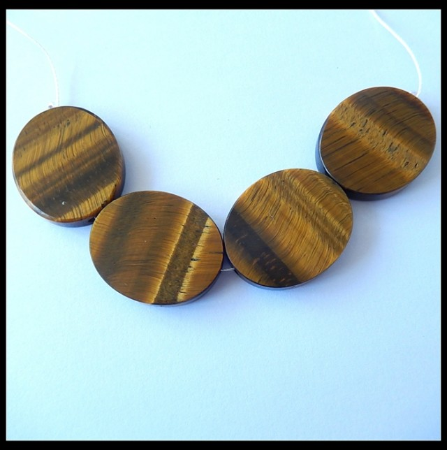 153ct Natural Gold Tiger Eye Oval Beads Strands,Tiger Eye For Necklace