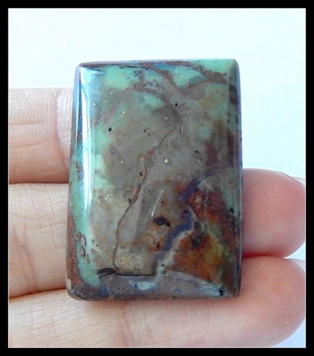 49Ct Natural Green Opal Gemstone Cabochon