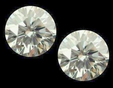 NATURALWHITE DIAMOND-0.10CTWSIZE-2PCS-3MM ,FORMAKING EARING