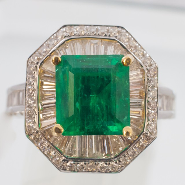 3.14 ct Colombian Emerald Ring