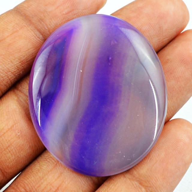 Genuine 61.20 Cts Oval Shaped Purple Onyx Cab