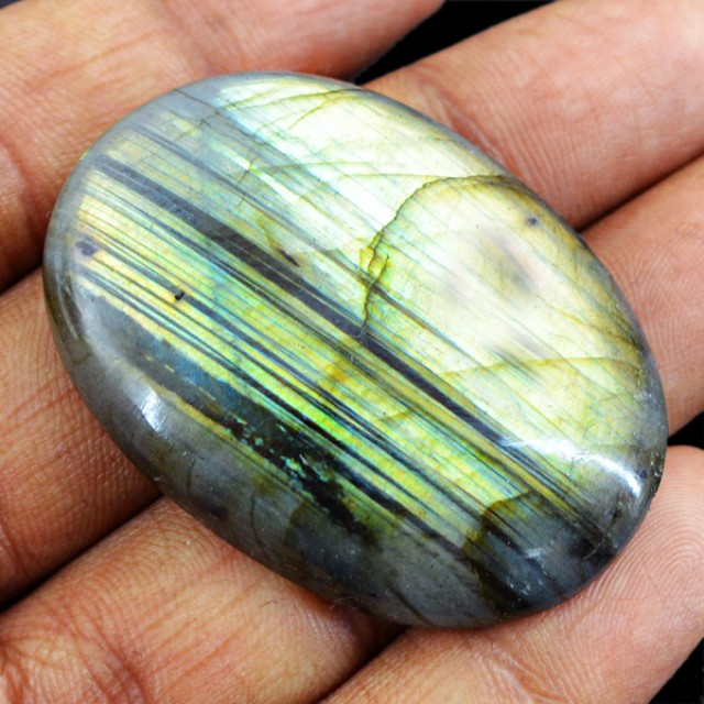 Genuine 88.65 Cts Untreated Oval Shaped Labradorite Cab