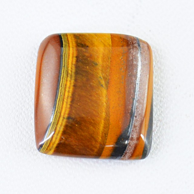 Genuine 32.40 Cts Untreated Golden Tiger Eye Cab