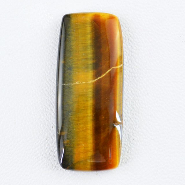Genuine 34.20 Cts Untreated Golden Tiger Eye Cab