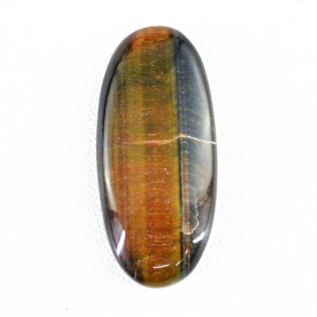 Genuine 33.70 Cts Oval Shaped Golden Tiger Eye Cab