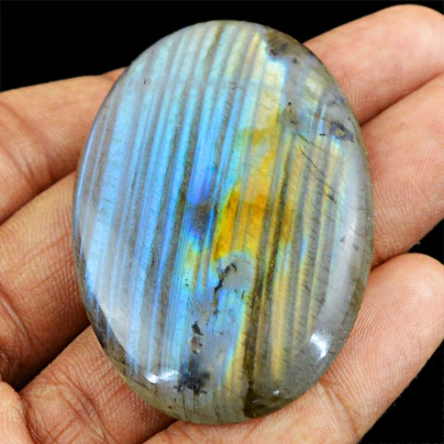 Genuine 98.05 Cts Untreated Oval Shaped Labradorite Cab