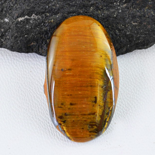 Genuine 42.50 Cts Golden Tiger Eye Cab