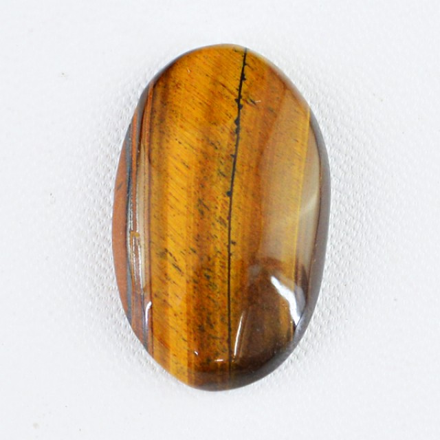 Genuine 33.55 Cts Golden Tiger Eye Oval Shaped Cab