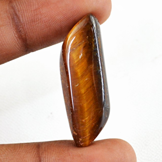 Genuine 22.15 Cts Golden Tiger Eye Untreated Cab