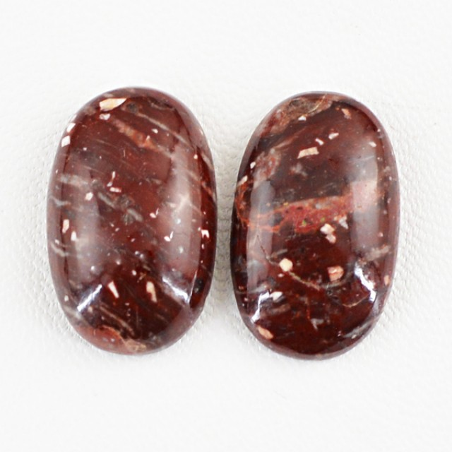 Genuine 36.05 Cts Untreated Oval Shaped Jasper Cab Pair
