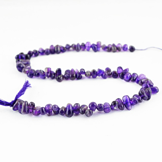 Genuine 23.05 Cts Purple Amethyst Beads 14 Inch Strand