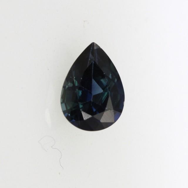0.66cts Natural Australian Blue Sapphire Pear Shape