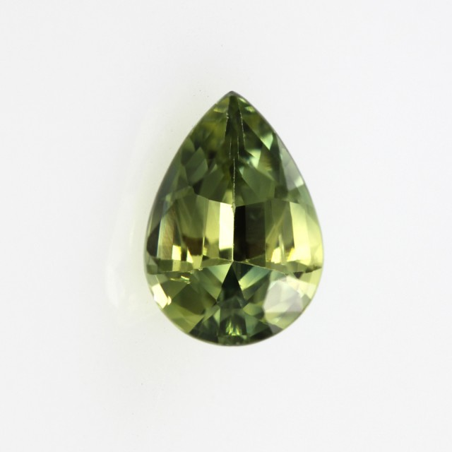 1.18cts Natural Australian Yellow/Blue Parti Sapphire Pear Shape