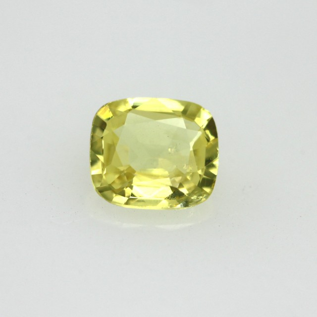0.49cts Natural Australian Yellow Sapphire Cushion Cut