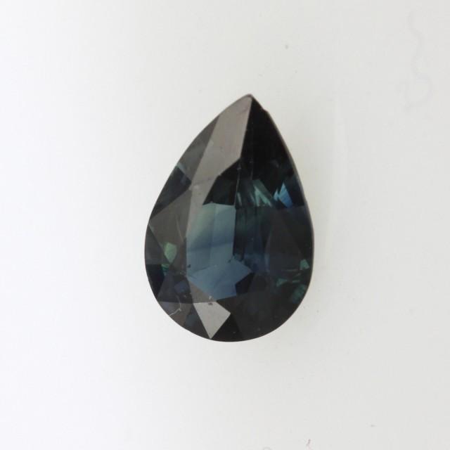 1.09cts Natural Australian Blue Sapphire Pear Shape