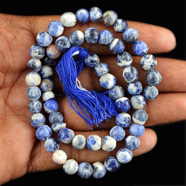 Genuine 97.00 Cts Blue Lapis Lazuli Beads 14 Inch Strand