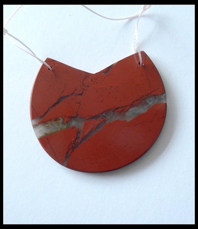 53.5Ct Natural Red jasper Pendant Bead