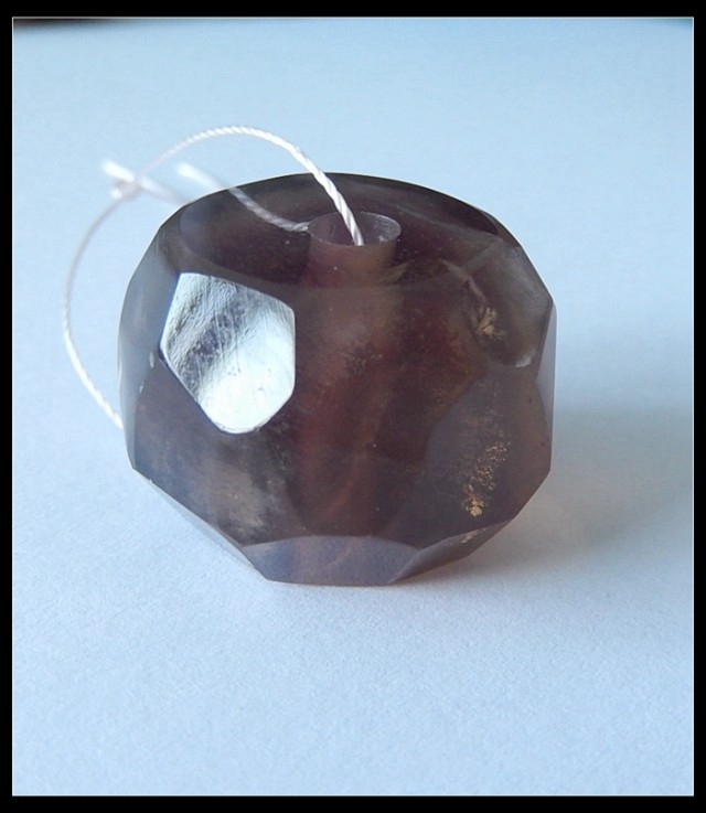 117.5Ct Faceted Fluorite Gemstone Pendant Bead
