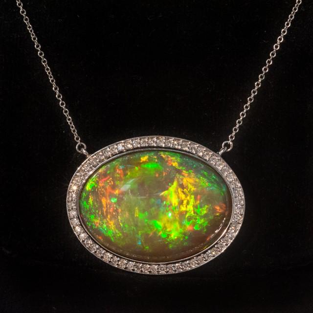 37.35ct Welo Opal Pendant