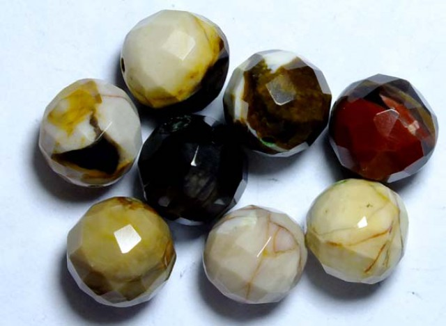 PETRIFIED WOOD BEADS, (8PC) 61.05CTS NP-1017