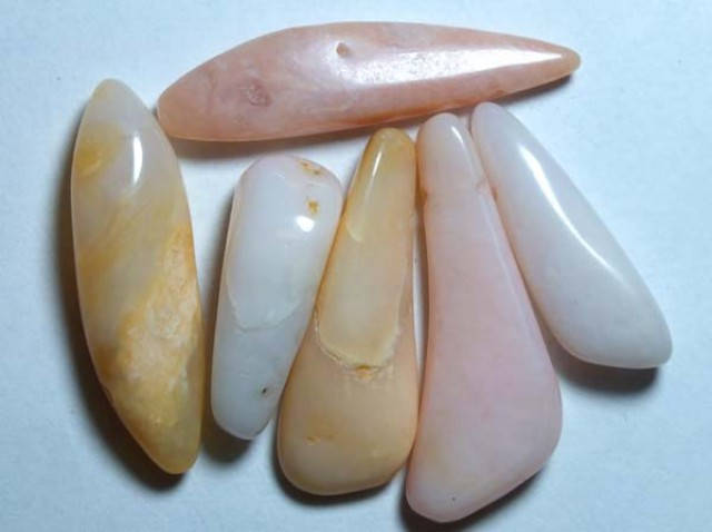 PINK OPAL BEADS NATURAL (6PC) 62CTS NP-809