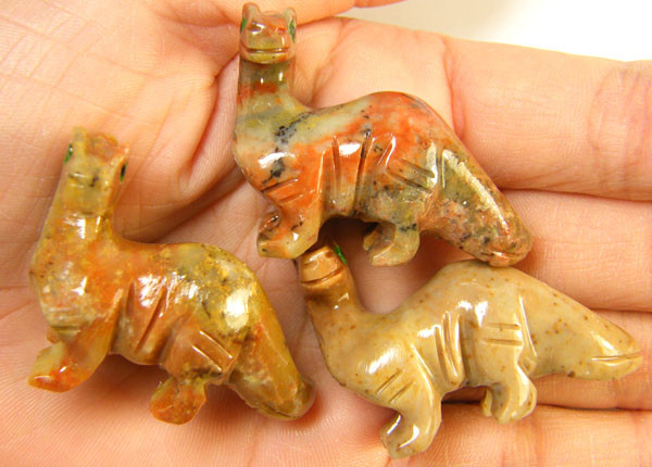 THREE CUTE ANIMAL ROCK CARVINGS PERU   AAA2685