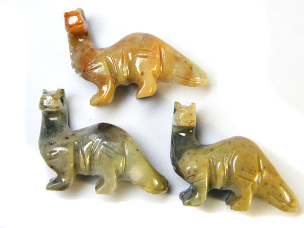 THREE CUTE ANIMAL ROCK CARVINGS PERU   AAA2700