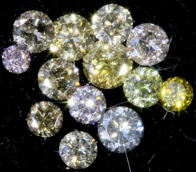 PARCEL ARGYLE CHAMPAGE DIAMONDS .19 CARATS  OP 860