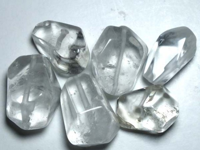 QUARTZ BEAD DRILLED (6PC) 126CTS NP-582