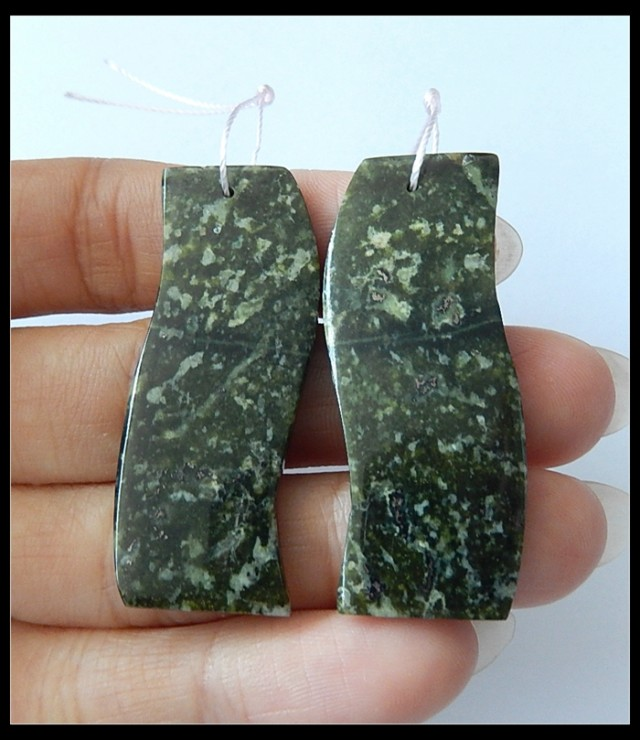 55.5Ct Natural Ocean Jasper Earring Beads (B180437)