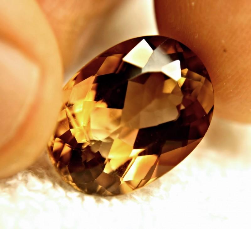 20.4 Carat VVS Golden Brown Topaz - Superb