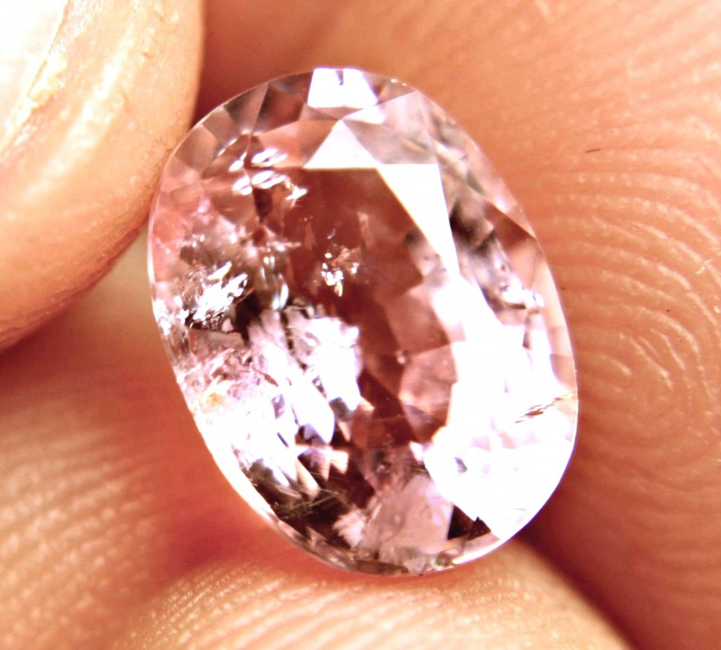 4.78 Carat Fancy Peach Pink Tourmaline - Gorgeous