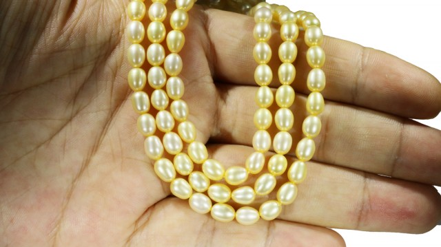 Golden Yellow Natural Pearl strand  GOGO 798