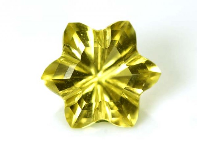 LEMON QUARTZ FLOWER CARVING 3.45 CTS PG-1832