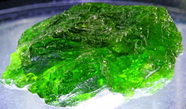 25.85 CTS CHROME DIOPSIDE FROM RUSSIA STABILIZED [F6625 ]