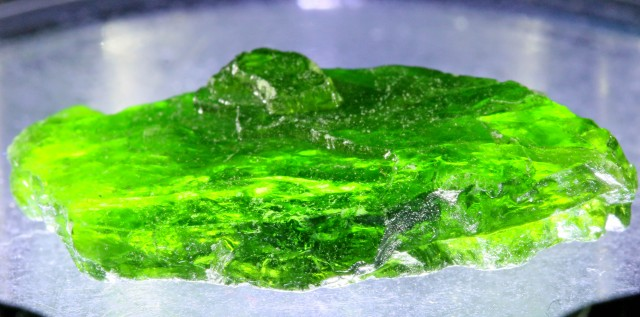 15.90 CTS CHROME DIOPSIDE FROM RUSSIA STABILIZED [F6640 ]