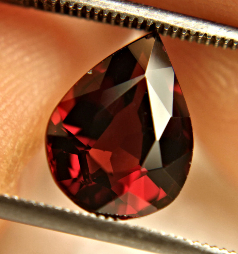 4.61 Ct. Fiery Red VS Rhodolite Garnet Pear - Gorgeous