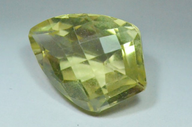 Gold Green gemstone faceted