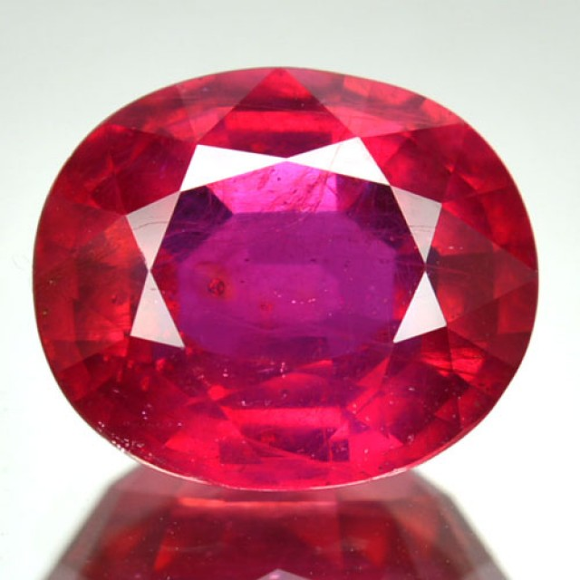 6.13 Cts Natural Blood Red Ruby Cushion Cut Mozambique Gem