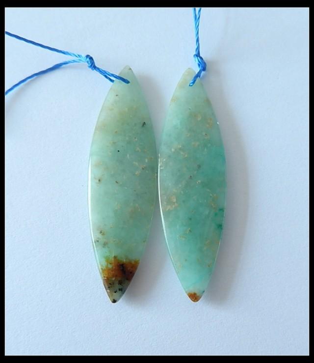 27.5Ct Natural Chrysocolla Earring Beads(B180454)