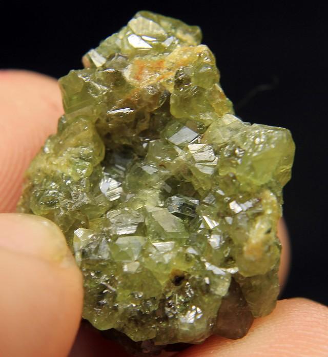 Rare Green Garnet Cluster From Afghanistan Collector's Gem