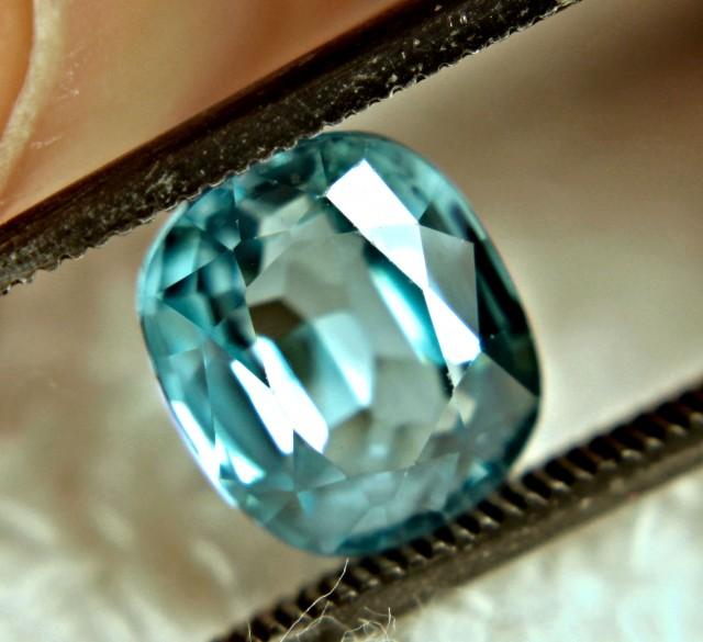 3.18 Carat VVS1 Vibrant Blue Zircon - Superb