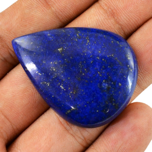 Genuine 72.60 Cts Pear Shaped Blue Lapis Lazuli Cab