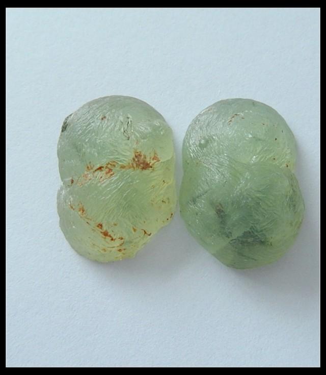 28.5Ct Natural Prehnite Gemstone Pair(C0106)