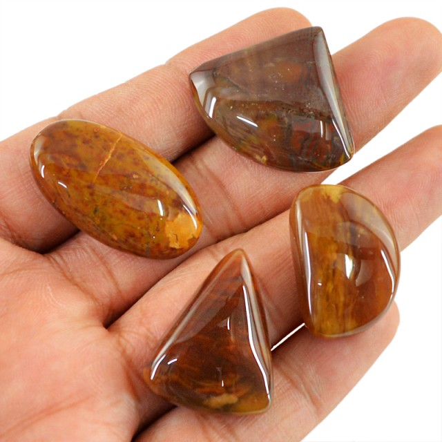 Genuine 107.55 Cts Untreated Agate Cab Lot