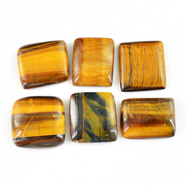 Genuine 147.00 Cts Untreated Golden Tiger Eye Cab Lot